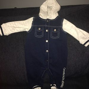 Baby Boy Calvin Klein Jeans Coverall